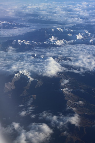 Alpes (vue d'avion) 2/3