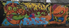 bassline (doodledubz collective) Tags: fish streetart graffiti bass character cartoon addicted graff totally fill fung parky doodledubz form82 emulshion