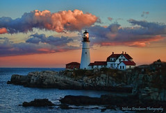 Portland Head Sunset (Explored!) (mlbrookmire) Tags: ocean sunset usa lighthouse maine newengland atlantic portlandmaine dramaticsky eastcoast coolclouds portlandheadlighthouse historiclighthouse wtmwgroupiconwinner