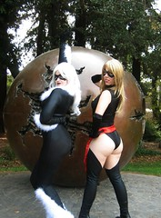 We Always Bring Up the Rear (Roxanna Meta) Tags: comics costume comic cosplay marvel animedestiny msmarvel xcelsior blackcattallestsilver