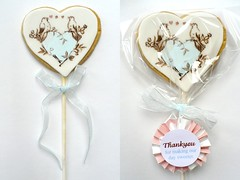 Wedding Cookies (neviepiecakes) Tags: weddingfavours vintagewedding weddingcookies paintedcookies weddingberkhamsted weddinghertfordshire