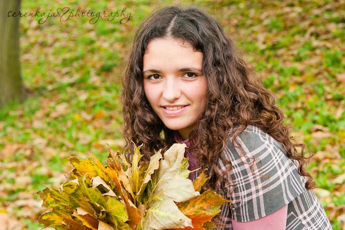 Осенняя фотосессия в парке. Лена