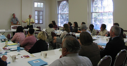 Under Secretary Kevin Concannon speaks to hunger advocates at the listening session in New Orleans on September 30.