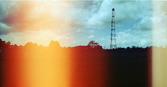 Antenna 2 (fuzk23) Tags: colour film panoramic lightleak negatives antenna horizont antennafarm