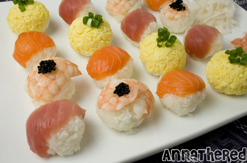 How to make temari-zushi (or temari-sushi)