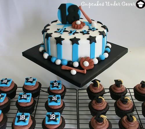 18th Baseball & Grad Cake