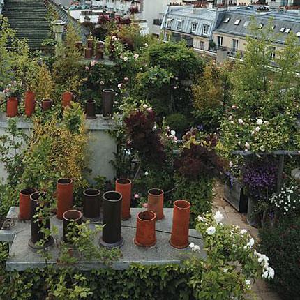 сад на крыше с видом на париж 1