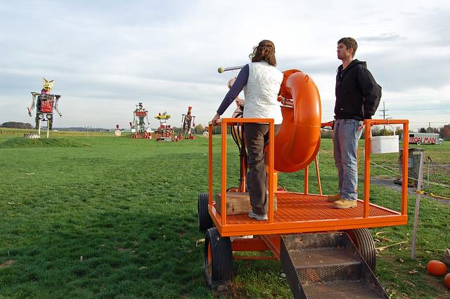 pumpkin cannon!