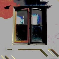 dim outlook (msdonnalee) Tags: california window ventana fenster finestra janela fentre venster sanfranciscochinatown