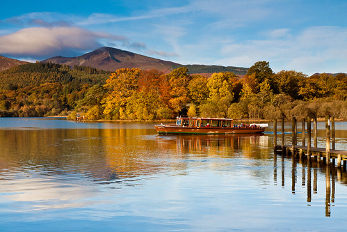 Derwentwater cruise in the autumn sunshine