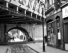 Southwark Street, London (Flamenco Sun) Tags: city bridge urban blackandwhite bw london south railway east urbanlandscape donk londoner londonist
