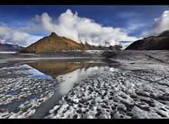 Glacier Pool - Svnafellsjkull in Skaftafell, Iceland (orvaratli) Tags: travel summer lake reflection fall ice landscape island iceland glacier skaftafell vatnajkull hvannadalshnjkur hafrafell rfajkull svnafellsjkull arcticarcticphotomountain