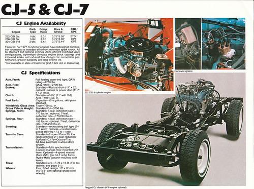Jeep cj7 specifications
