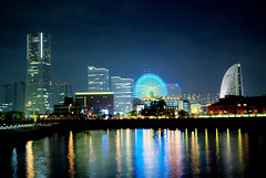 Yokohama, Minatomirai in HDR (Arutemu) Tags: street city travel urban panorama japan night asian japanese nikon asia cityscape view nightscape scenic scene nighttime  yokohama scenes japonesa japon  japones japonais     japonaise     hdr