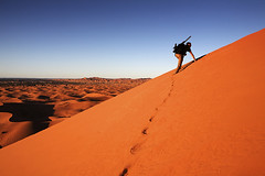 Merzouga, Morocco (Jim Shannon) Tags: tourism evening sand desert northafrica dunes footprints tourist climbing morocco canon5d steep lastlight scrambling merzouga harderthanitlooks igus joesheffer mg00501000px superslider