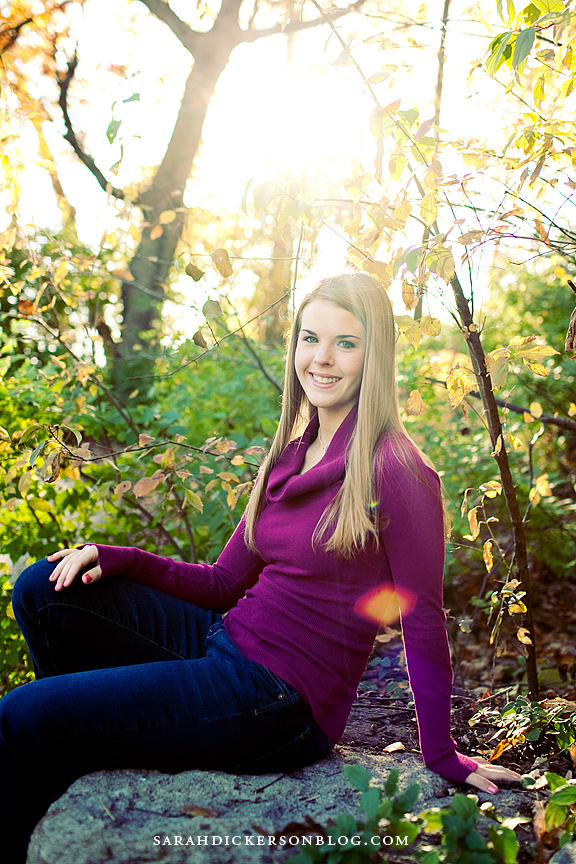 Briarcliff Village senior portrait session, Kansas City