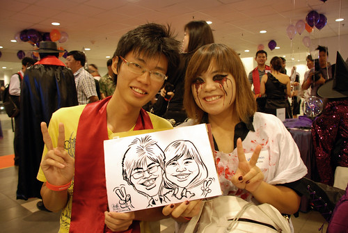 Caricature live sketching for NTU Alumni Club - 4