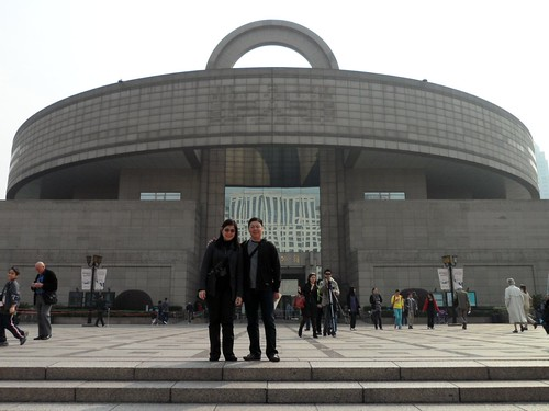 In front of the Shanghai Museum