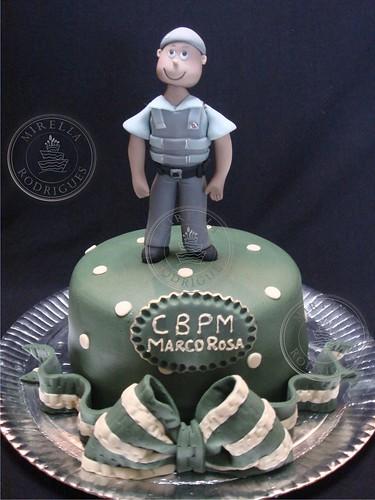 Mini Bolo Policial Militar Policeman Cake