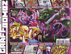 Pencil-Blef-Chas on the Graffbombz's cover (Zeus40 and Wildboys) Tags: italy love pencil jump letters crew naples chas opium pdb rota wildboys terlizzi blef zeus40