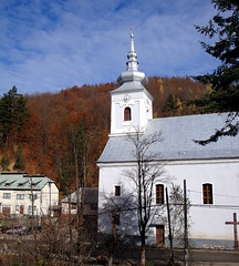 Szent Borbla templom / Saint Varvara church (debreczeniemoke) Tags: autumn church catholic transylvania transilvania erdly sz cavnic muntiigutin kapnikbnya gutinhegysg szentborblarmaikatolikustemplom felskapnik