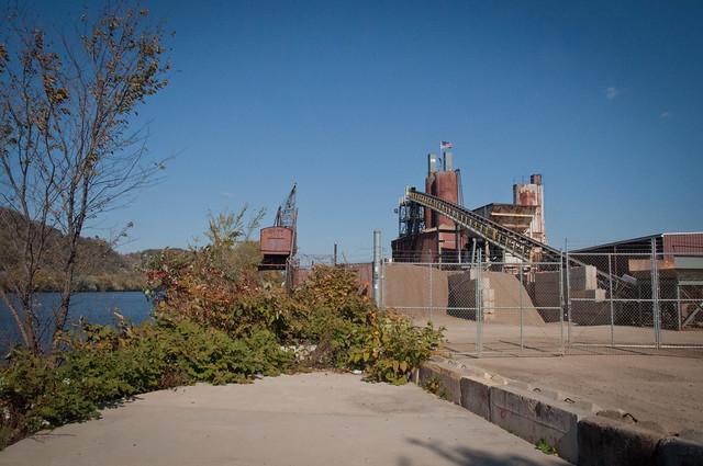 Concrete Plant by River