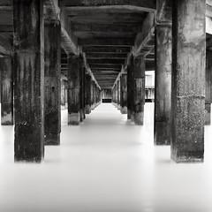 Blankenberge Pier (Joel Tjintjelaar) Tags: pier belgium blankenberge bwphotography blackandwhitephotography daytimelongexposure nd110 bwfineartphotography tjintjelaar michaellevinworkshop