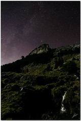 starsdust and little fall (chris frick) Tags: longexposure november light sky moon alps fall night stars iso3200 switzerland waterfall nightshot tripod wideangle clear mf cascade moutains gitzo stardust milkyway berneroberland a550 hintisberg remoteshuttercontrol chrisfrick sonyalpha550 topazdenoise5 stardustandlittlefall halfmoonlight