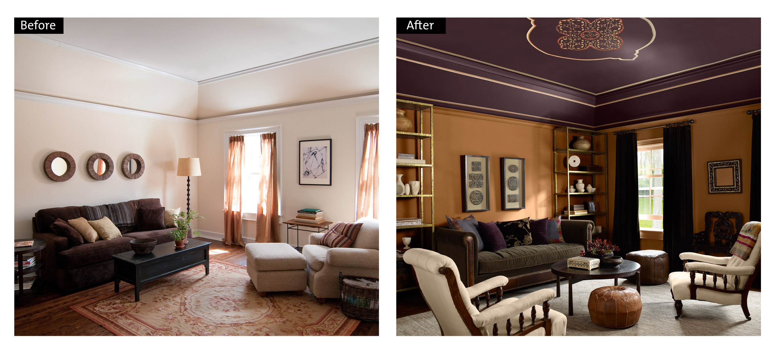 Benjamin Moore soulful family room