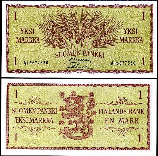 1 Markka Fínsko 1963, P98