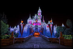 It's that time of year again! [Explore] (Silver1SWA (Ryan Pastorino)) Tags: castle canon holidays disneyland sigma disney walt hdr sleepingbeauty sigma1020 40d