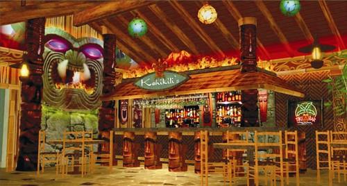 Interior Tropical Bar Design | Tiki Bar Design | Interior Restaurant Bar |  Tropical Bar Decor