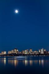 Moon Over Boston (Nietnagel) Tags: boston skyline flickraward thechallengefactory