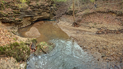 The Canal Insurgence 1, Cookeville, TN (Chuck Sutherland) Tags: canal unnamedstream unnamed stream cookeville putnam county tennessee tn karstwindow karst window warsawformation warsaw formation limestone blindvalley blind valley hydrogeology class sedimentaryrock