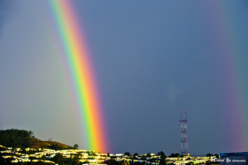 San Francisco lucky double rainbow