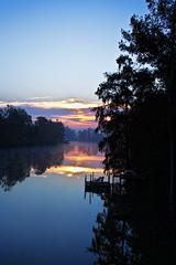 Bayou Plaquemine (David.Keith) Tags: morning trees sky water clouds photoshop pier bayou adjust cs4 plaquemine