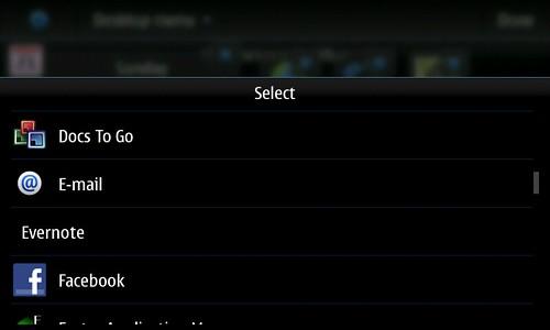 Homescreen Dockbar select