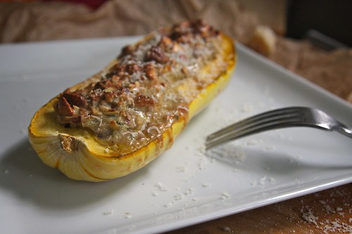 nut stuffed delicata squash