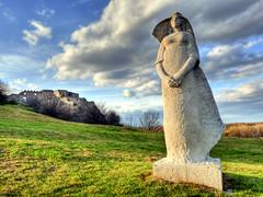 White Lady (stastie) Tags: sky castle statue clouds devin slovensko slovakia bratislava hdr platinumpeaceaward mygearandme mygearandmepremium mygearandmebronze mygearandmesilver mygearandmegold mygearandmeplatinum mygearandmediamond
