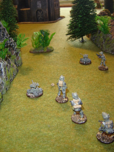 Sakhan Mercs move through forest