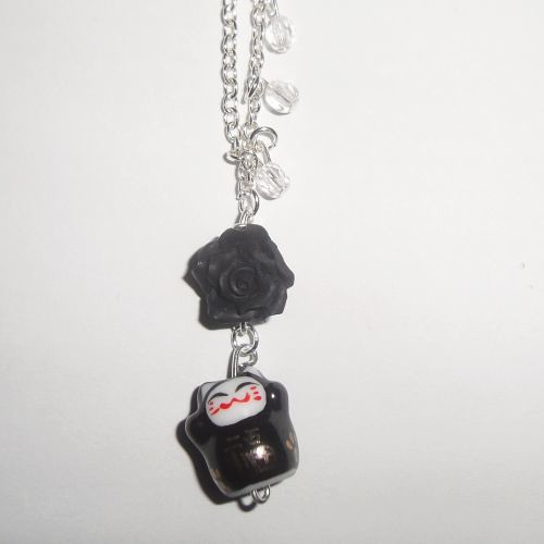 Black Lucky Cat Necklace