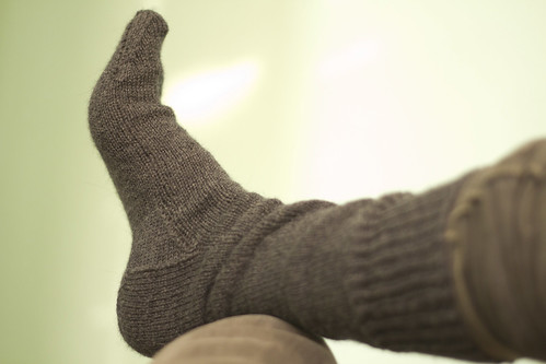 hand-knit sock