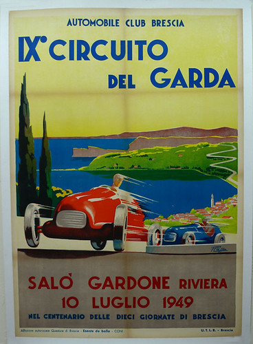011-Circuito del Garda, 1949-© 2010 Vintage Auto Posters. All Rights Reserved