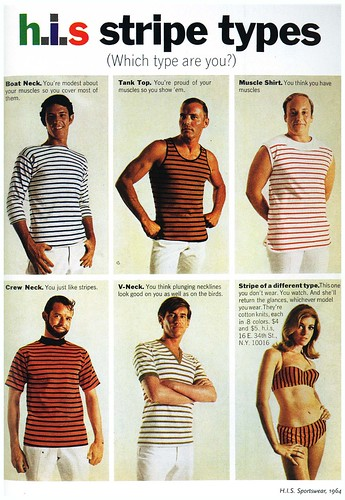 60's advertising_Striped shirt types