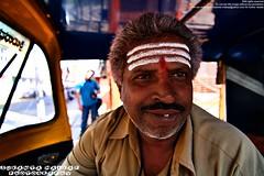 An Auto-Rickshaw Driver (Sukanta Maikap Photography) Tags: portrait india man bangalore karnataka 2010 basavanagudi bengaluru canon450d gandhibazar tokina1116mmf28atx bwsgandhibazar14novmorning