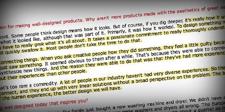 product design?