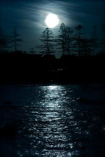 フリー写真素材, 自然・風景, 月, 夜空,