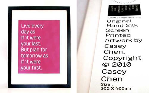 Casey Chen's Love Life Posters - Plum