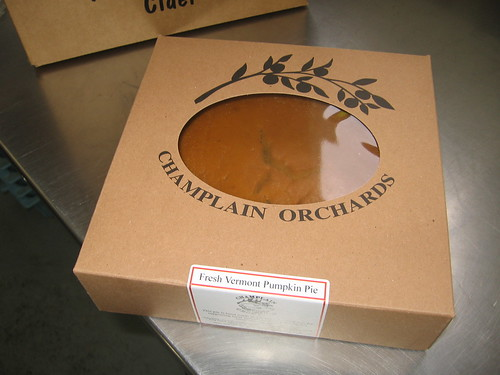 A Slice of Vermont for Winter: Champlain Orchards boxed pumpkin pie