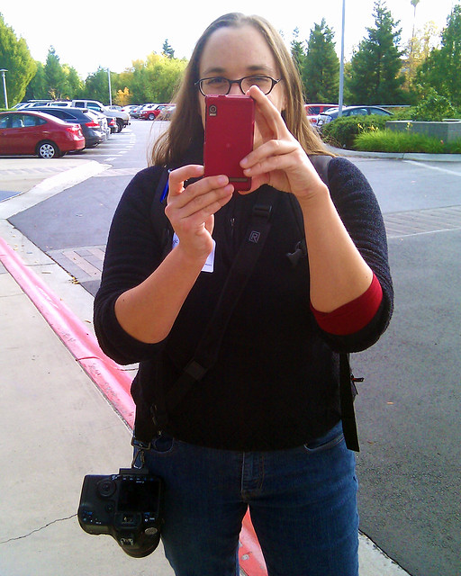 Me taking a picture with my Droid of the person taking a picture of me